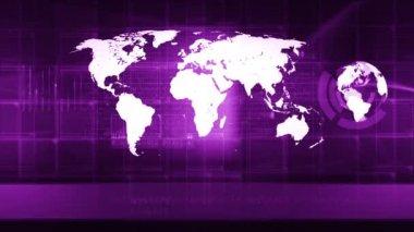 Globale kaart van de wereld — Stockvideo