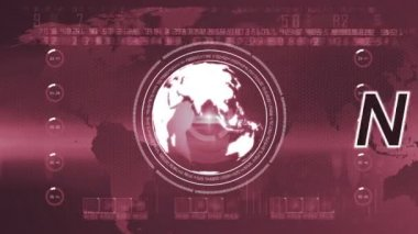 Globe News background — Stock Video