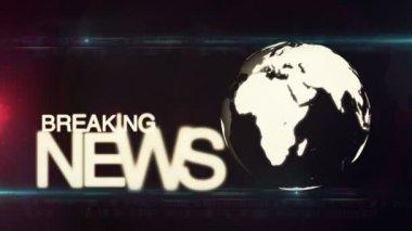 Breaking news background — Stock Video