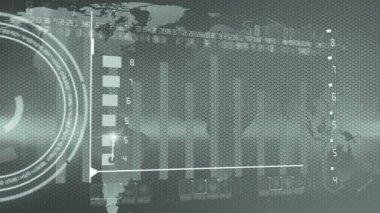Bedrijfsrapport grafiek economie — Stockvideo