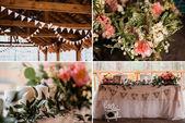 Collage di nozze — Foto Stock