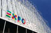 Information building for Expo 2015 in Milan — Stock Photo