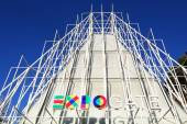 Milan, temporary structure to provide information on EXPO — Stock Photo