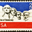 Mount Rushmore National Memorial on old US stamp — Stock Photo #71205227