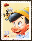 Pinokio przez Walt Disney na nas znaczka — Zdjęcie stockowe