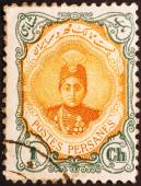 Shah Ahmed Qajar on iranian stamp of 1911 — Stock Photo