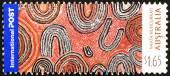 Arte aborígene australiano selo — Fotografia Stock