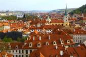 Roofs of Prague, top view — Stock Photo