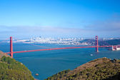 Whole Golden Gate and San Francisco — Stock Photo