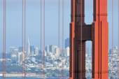 San Francisco skyline door Golden Gate — Stockfoto
