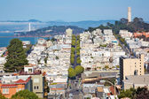Telegraph hill in San Francisco — Stock Photo