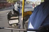 Tuctuc taximeter in Jaipur — Stock Photo