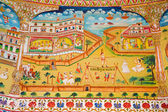 Fresco in Laxmi Nath Temple — Stock Photo