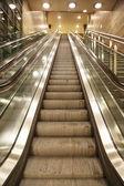 Escalator of berliner subway — Stock Photo