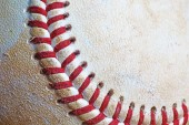 Used baseball closeup — Stock Photo