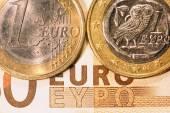 1 ユーロ ギリシャ コイン — ストック写真