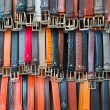 Belts on sale in Florence — Stock Photo #74474129
