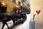 Przewóz z konia dla turystów — Zdjęcie stockowe