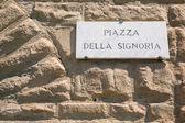 Piazza della Signoria platein Florence — Stock Photo