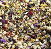 Dried flowers for tisanes Grand Bazaar — Stock Photo