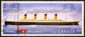 Canadian stamp commemorating wreck of Titanic — Stock Photo
