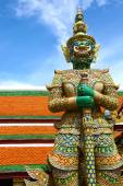 Statue of demon of Grand Palace — Stock Photo