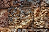Bajorrelieve de piedra sagrada hinduista — Foto de Stock
