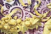 Richly painted azulejos on wall — Stock Photo