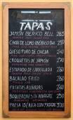 Spanische Tapas-Menü — Stockfoto