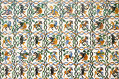 Multicolored spanish mosaic decoration — Stock Photo