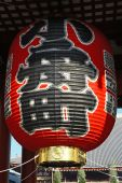 Huge red lantern — Stock Photo