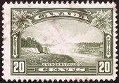 Vintage postage stamp was horribly