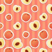 Peach pattern — Stock Vector