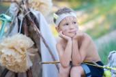 Genç okçu — Stok fotoğraf