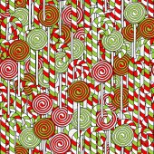 Dibujado a mano navidad de patrones sin fisuras — Vector de stock