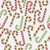 手绘圣诞无缝模式 — 图库矢量图片
