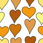 Hand drawn hearts seamless pattern — Stock Vector