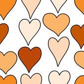Hand drawn hearts seamless pattern — Stok Vektör
