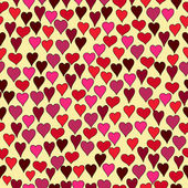 Hand drawn hearts seamless pattern — Vettoriale Stock
