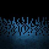 Fondo de mosaico abstracto píxeles cuadrados — Vector de stock