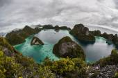 Remote Lagoon and Limestone Islands — Stock Photo