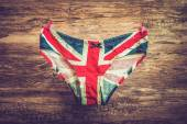 Panties with an English flag hanging on the line - retro and vin — Photo