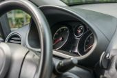 Steering wheel and dashboard — Stock Photo