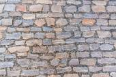Cobblestone pavement on street in Prague — Stock Photo