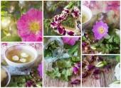 Gül kolaj ile bitkisel çay — Stok fotoğraf