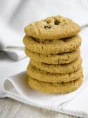 Stack of Cookies on white — Stock Photo