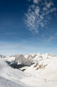 Dolomiti skiing — Stock Photo