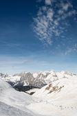 Skifahren Dolomiten — Stockfoto