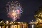 New Year celebration fireworks — Stock Photo