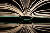 The open book with reflection — Stock Photo